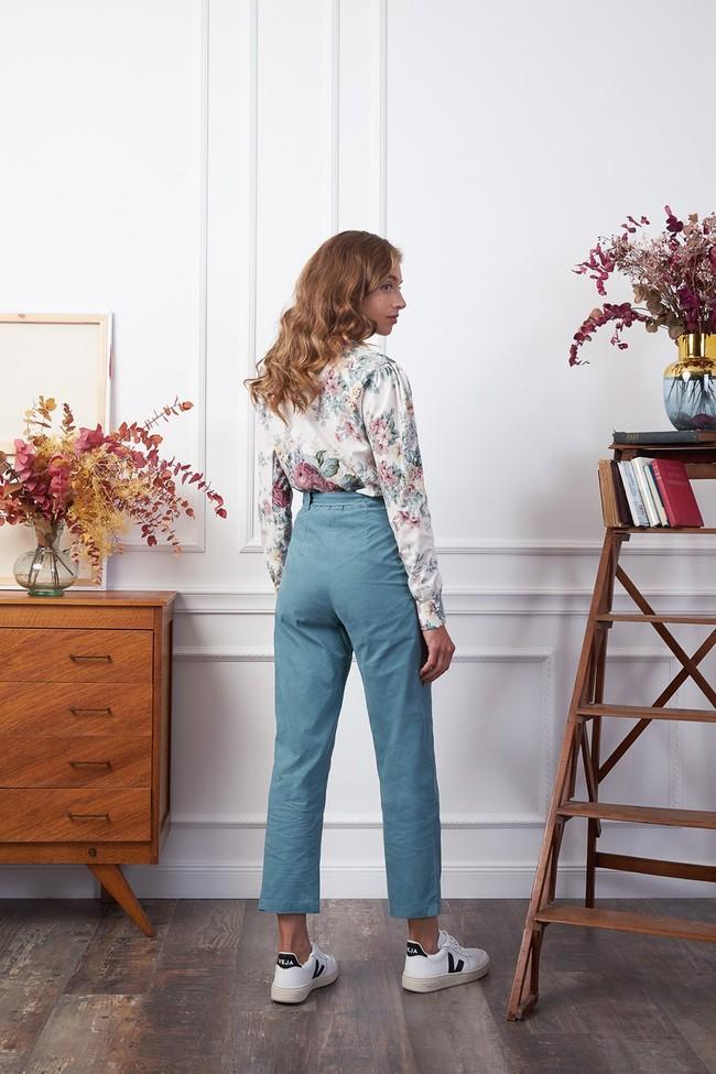 Pantalon krabe blue velvet - Les Récupérables num 1