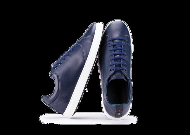Chaussure semelle pneu recyclé cuir navy - gravière - Oth num 1