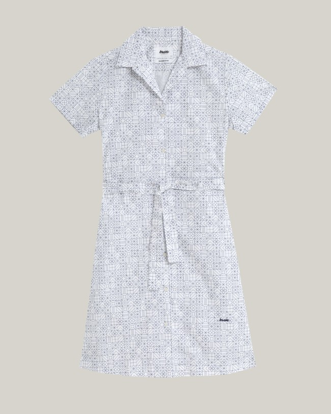 Portuguese tiles shirt dress - Brava Fabrics num 1