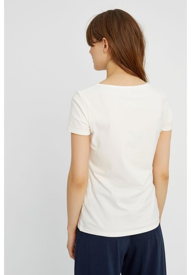 T-shirt col rond blanc en coton bio - gaia - People Tree num 1