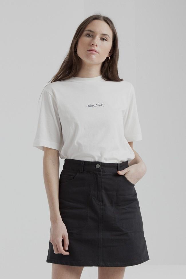T-shirt blanc en coton bio - stardust - Thinking Mu num 3