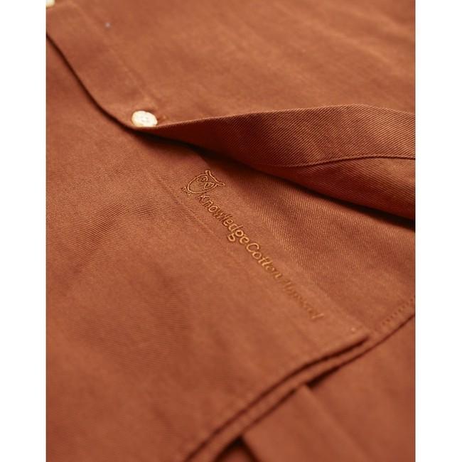 Chemise orange en coton bio - melange effet flanelle - Knowledge Cotton Apparel num 2