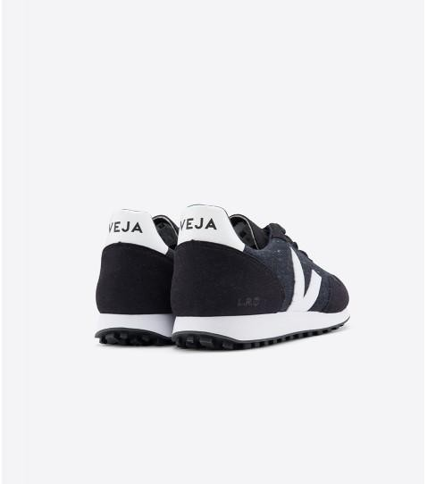 Baskets sdu flannel dark black white - Veja num 2