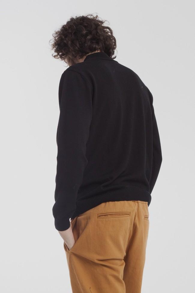 Pull col roulé noir en laine mérinos - Thinking Mu num 3
