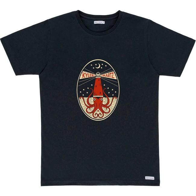 T-shirt en coton bio black oktopus - Bask in the Sun