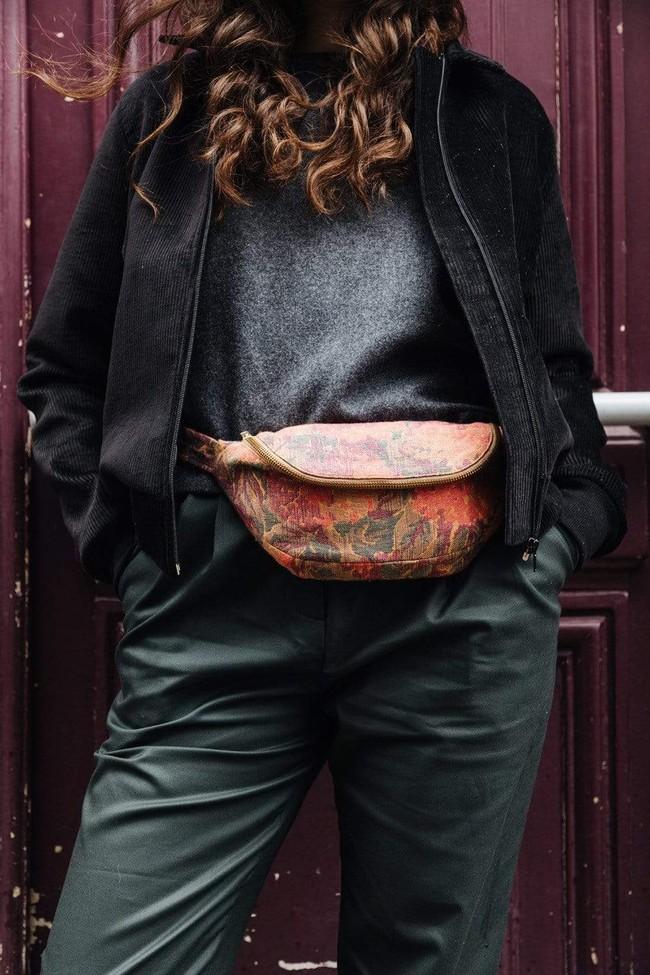 Bombers femme velours noir - Les Récupérables num 1