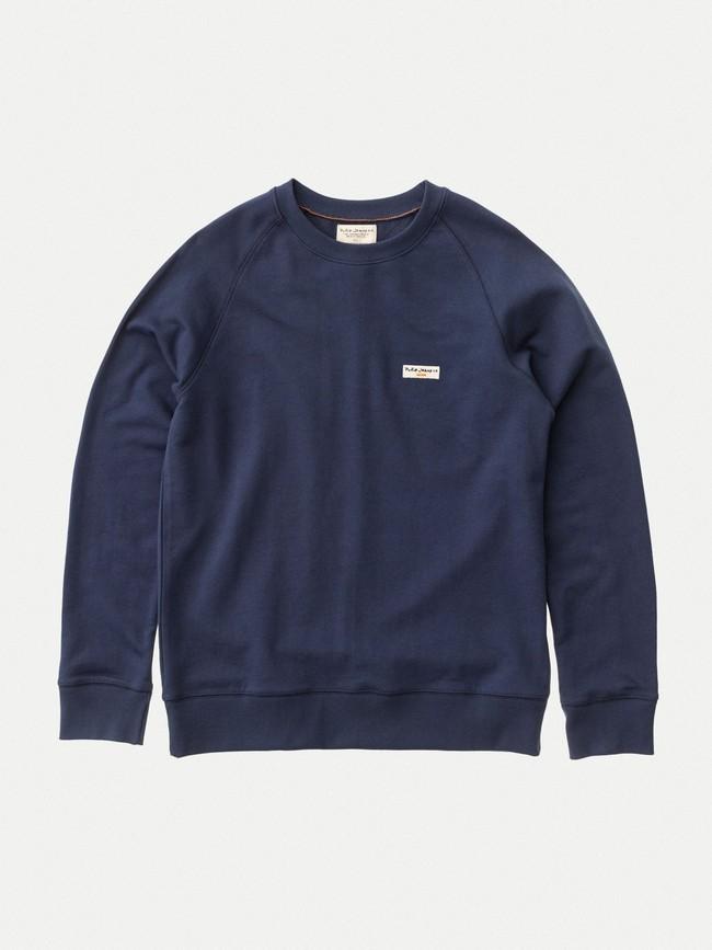 Sweat bleu en coton bio - samuel - Nudie Jeans num 2