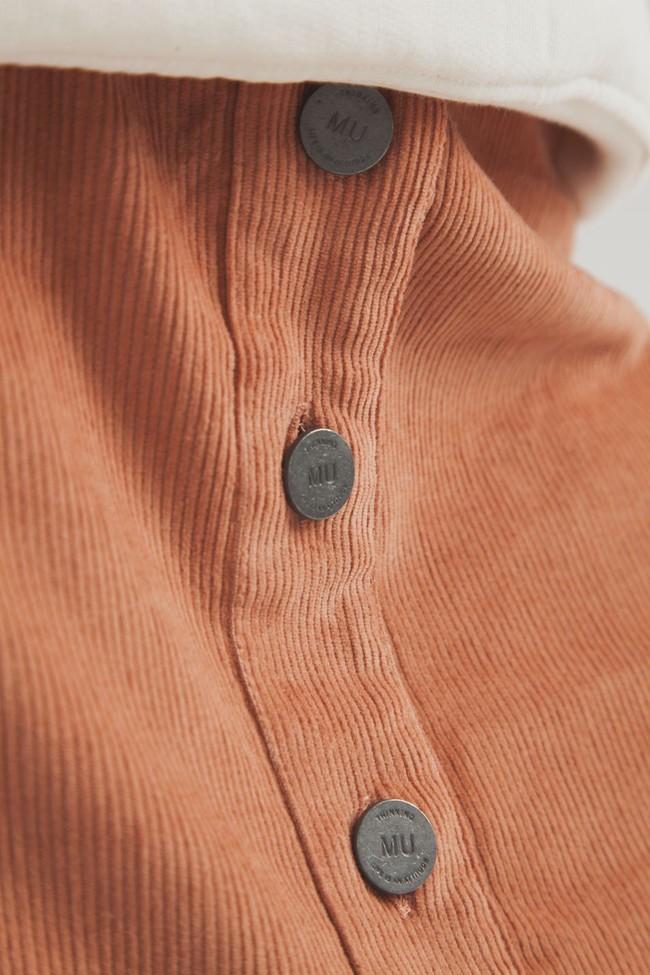 Jupe courte orange en coton biologique - Thinking Mu num 1