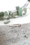 Bague carrée béton et argent - rouge rubis - Elle & Sens - 5