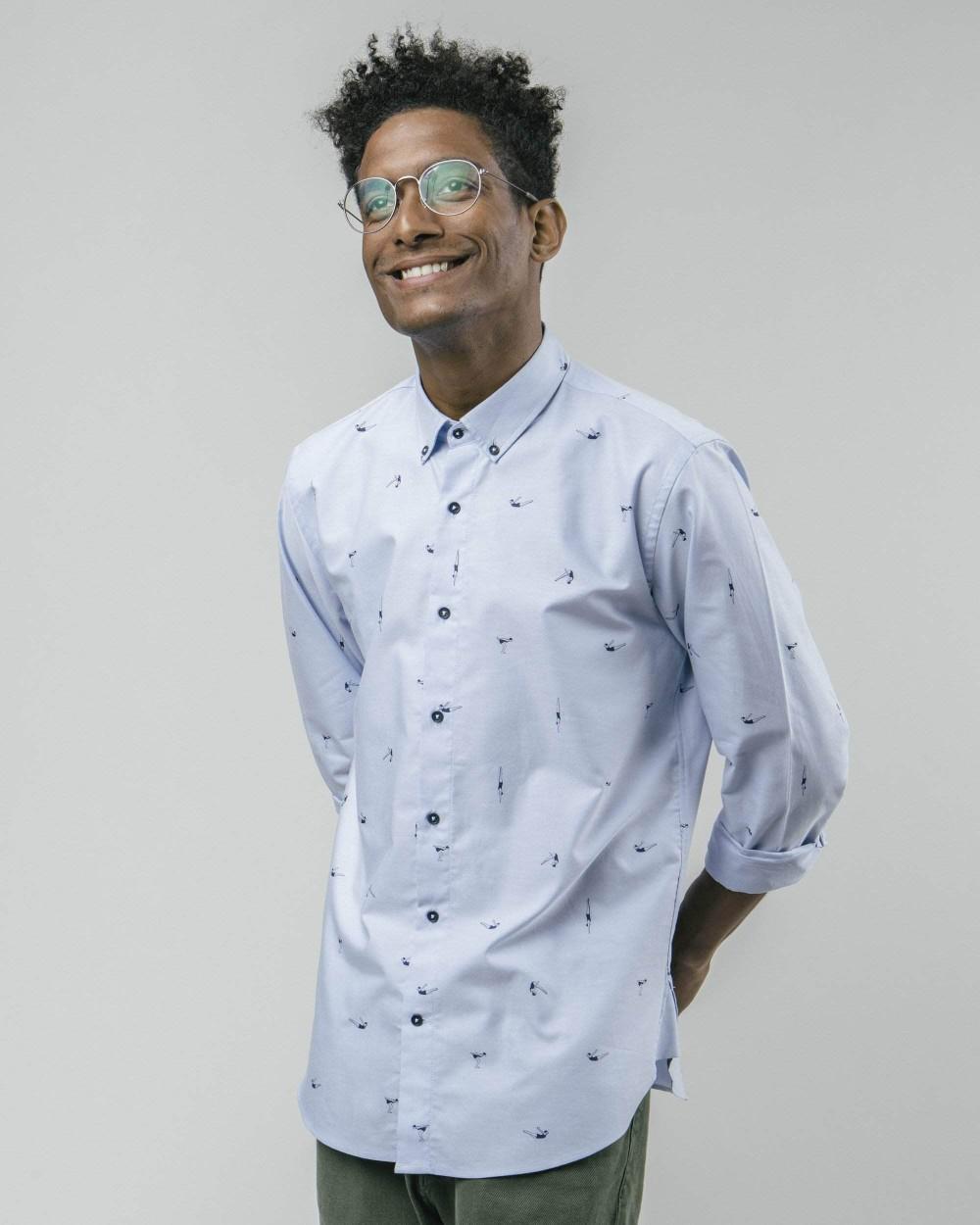 Vintage swimmer printed shirt - Brava Fabrics