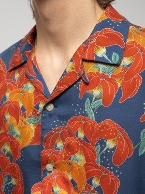 Chemise manches courtes à fleurs en tencel  - arviid - Nudie Jeans num 3