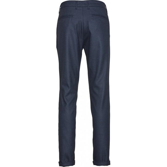 Chino slim bleu à motifs en polyester recyclé - joe - Knowledge Cotton Apparel num 1