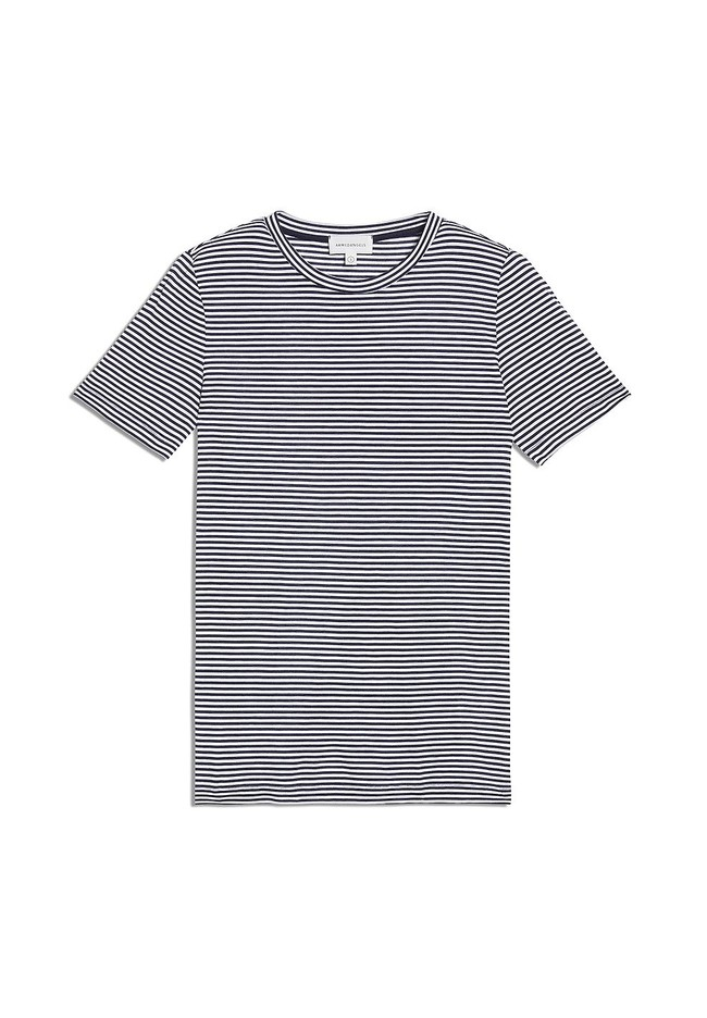 T-shirt rayures bleu marine en coton bio - lidaa - Armedangels num 4
