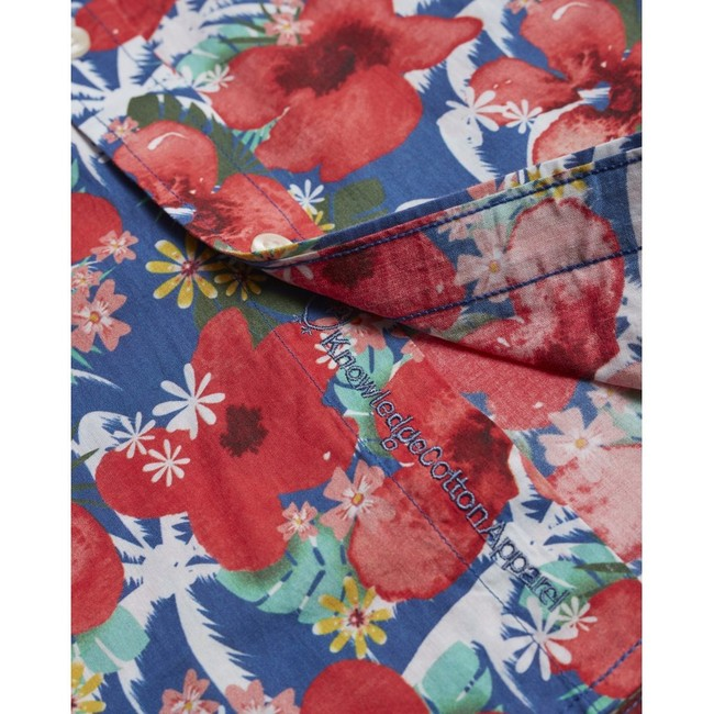 Chemise manches courtes imprimée fleurs en coton bio - Knowledge Cotton Apparel num 3