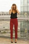 Pantalon tailleur new-york rouge - 17h10 - 1