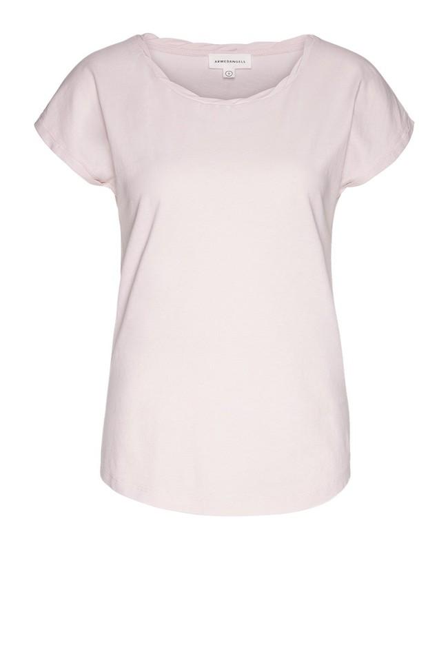 T-shirt uni rose pale en coton bio - laale - Armedangels num 4