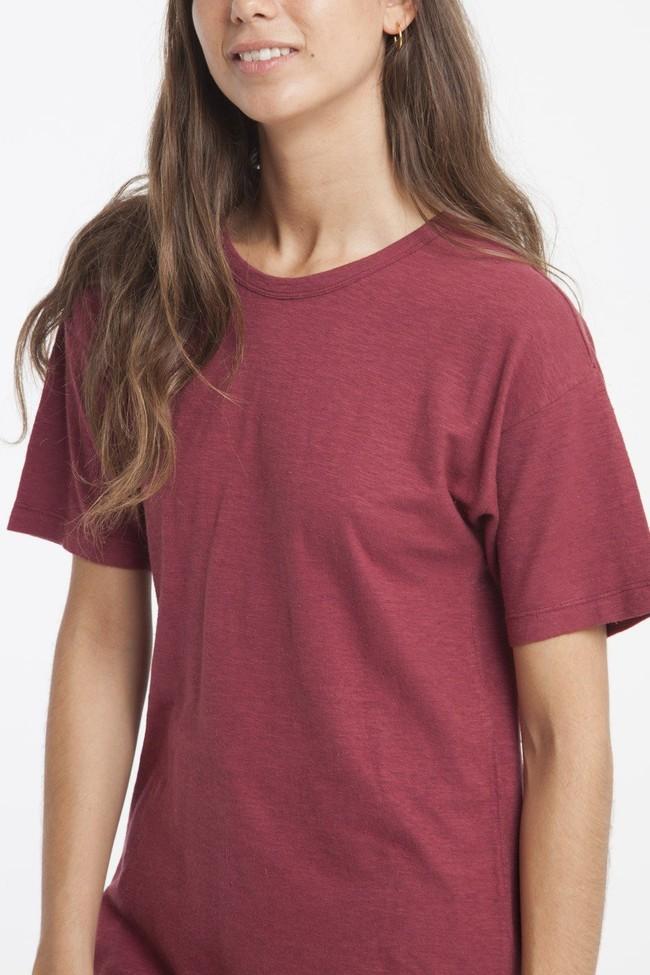 T-shirt en chanvre rouge - Thinking Mu num 1