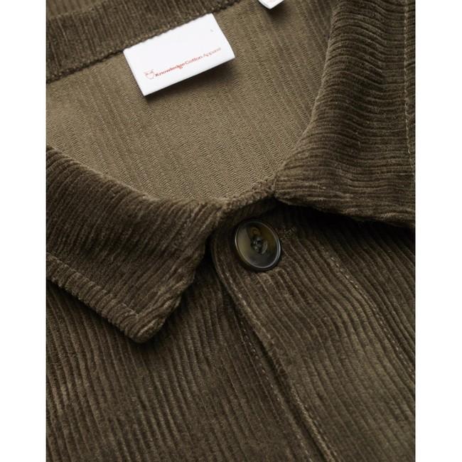 Veste velours vert forêt en coton bio - Knowledge Cotton Apparel num 2