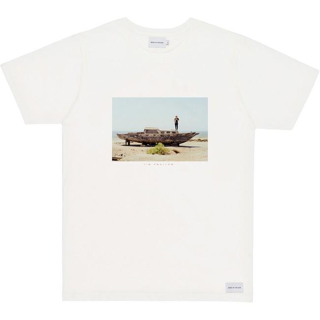 T-shirt en coton bio natural desert boat - Bask in the Sun