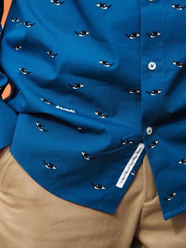 Arctic orca printed shirt - Brava Fabrics num 5