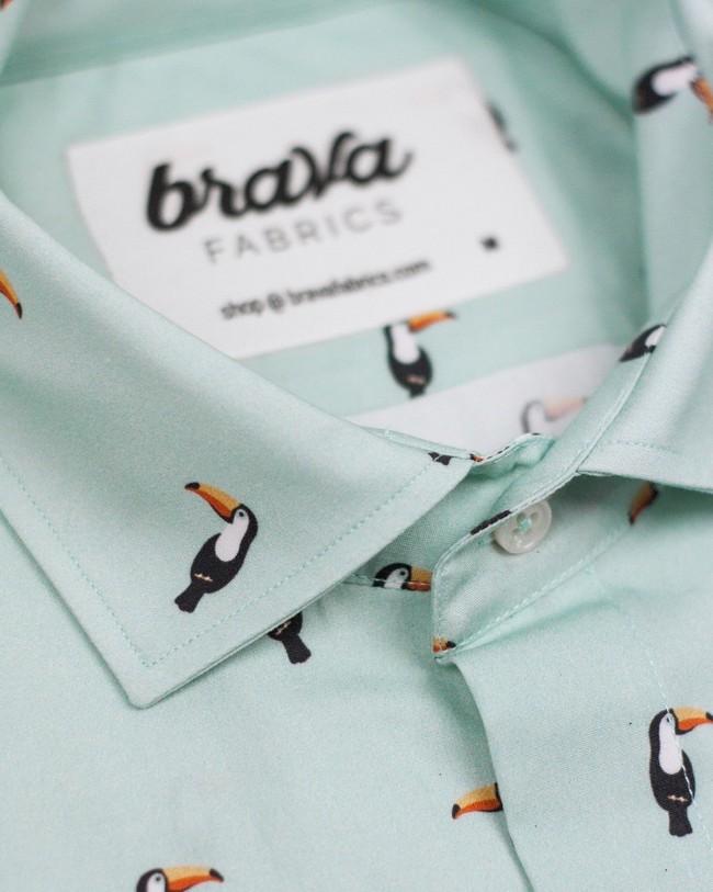 Tropical tucan printed shirt - Brava Fabrics num 3