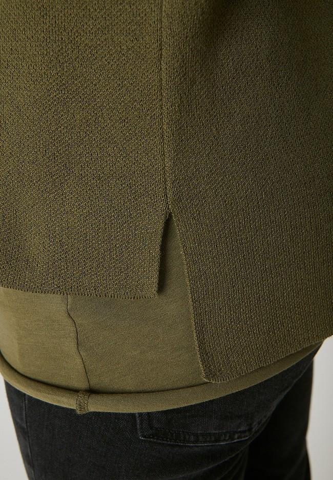 Pull vert kaki en coton bio - yunaa - Armedangels num 3