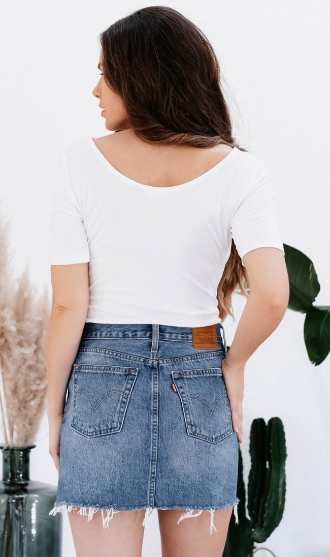 T-shirt jasmin blanc - Avani num 2