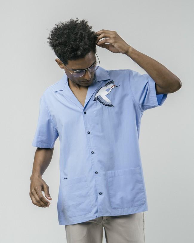 Crane for luck essential shirt - Brava Fabrics