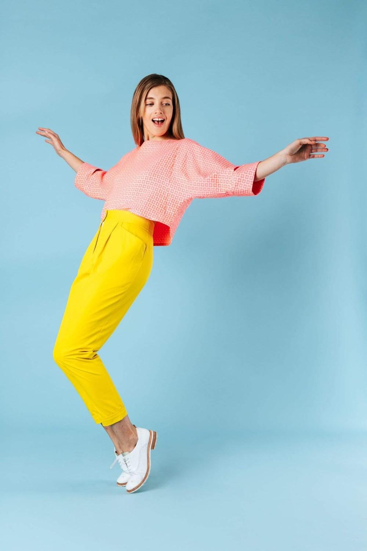 Pantalon kipants jaune - Les Récupérables