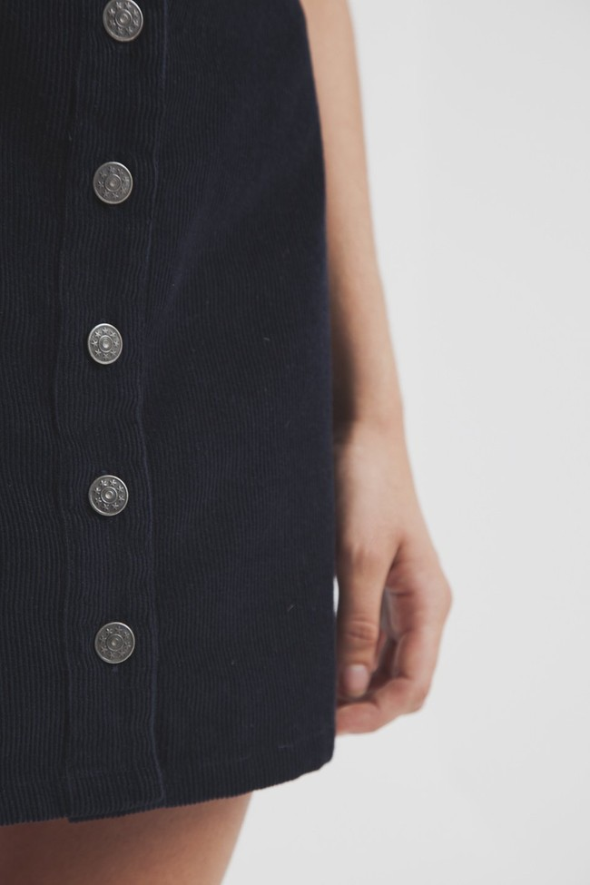 Jupe courte bleu foncé coton biologique - Thinking Mu num 5