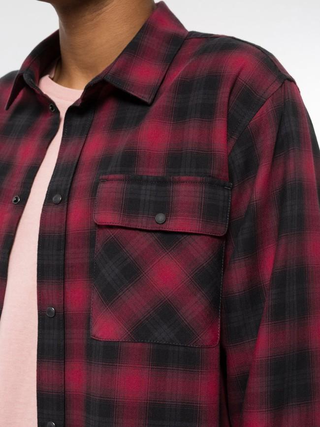 Chemise à carreaux rouge et noir - gabriel - Nudie Jeans num 4