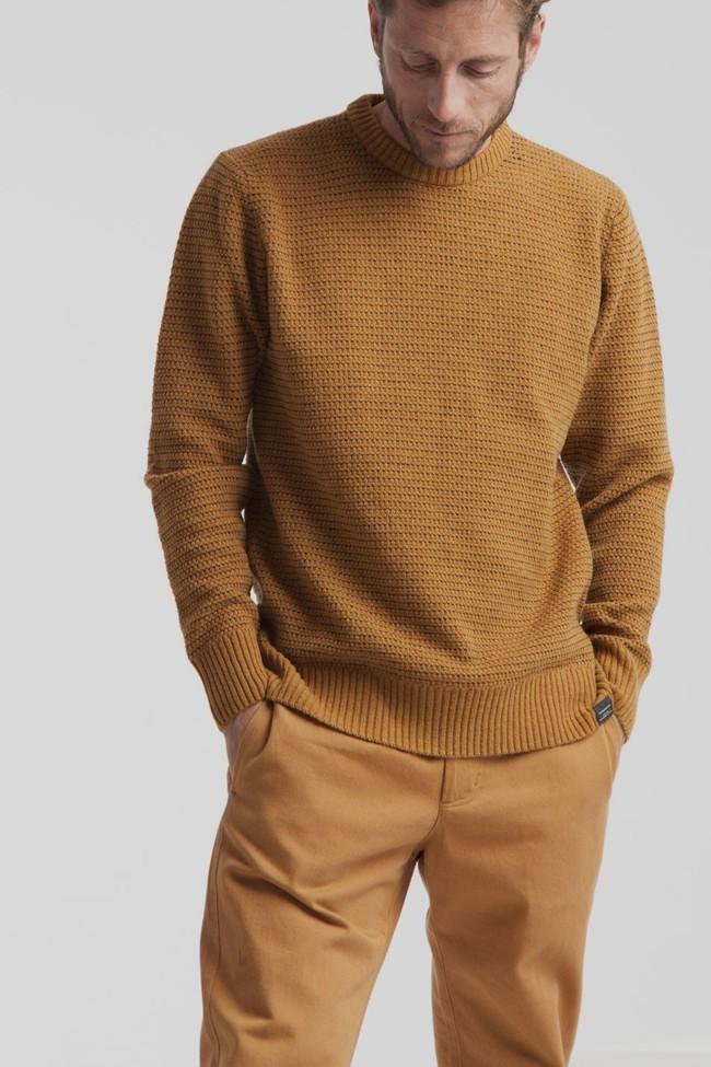 Pull marron en laine fine - miki - Thinking Mu num 2