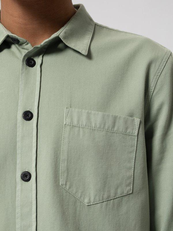 Chemise vert pâle en coton bio - henry - Nudie Jeans num 4