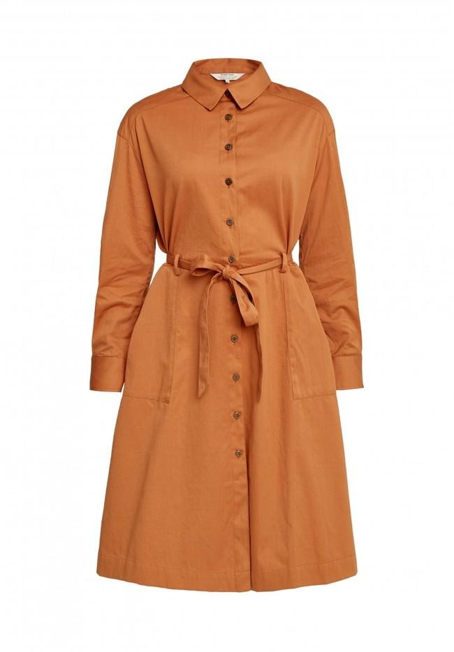 Robe longue unie camel en coton bio – penny - People Tree num 8