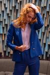 Veste tailleur boston bleu roi - 17h10 - 1