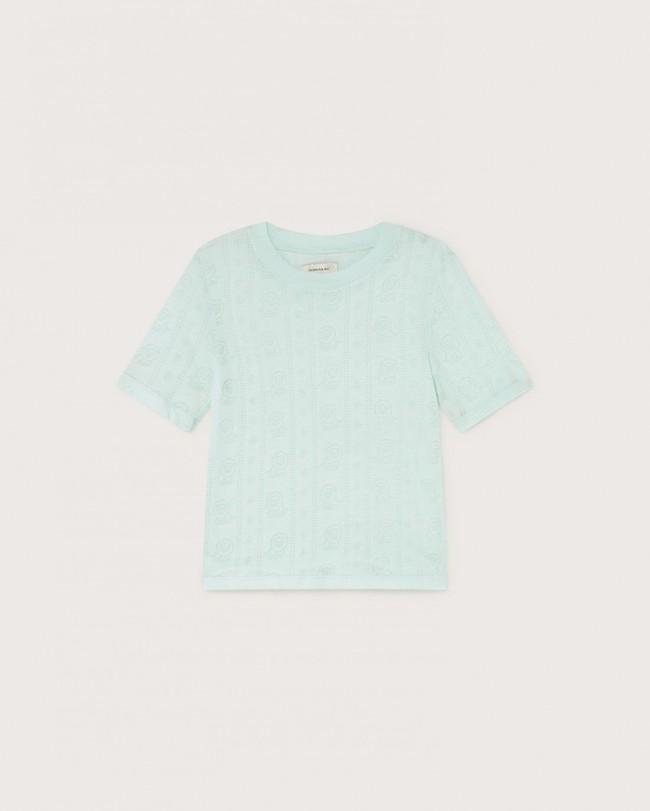 T-shirt bleu ciel en tencel et coton bio - mara - Thinking Mu num 4