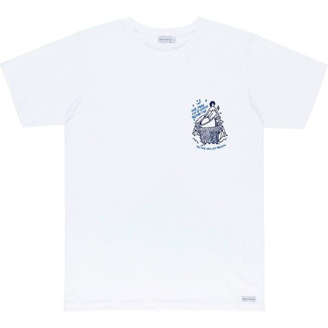 T-shirt en coton bio white coffee - Bask in the Sun