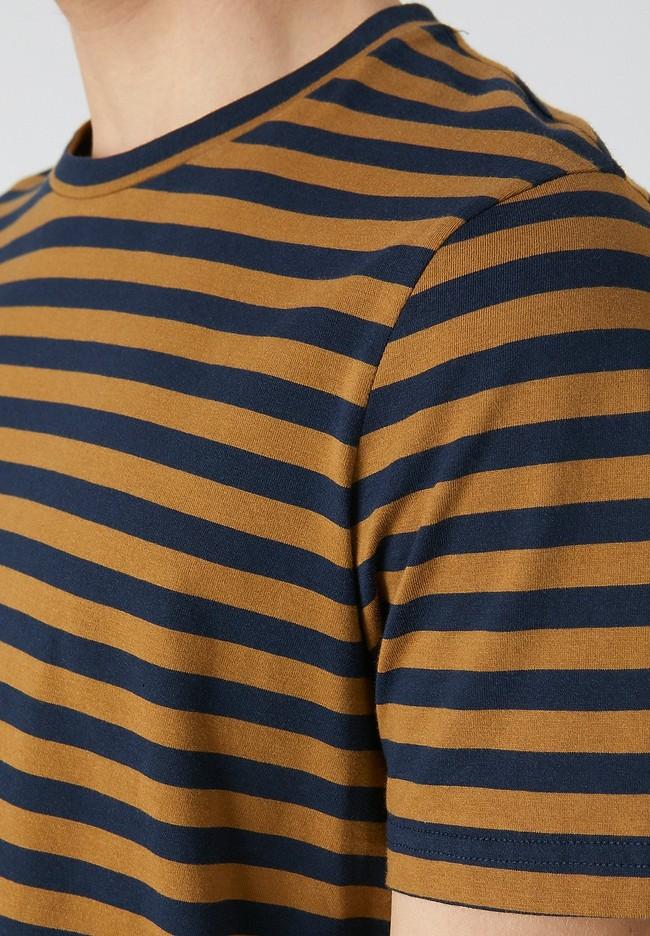 T-shirt rayé en coton bio - jaames breton - Armedangels num 3