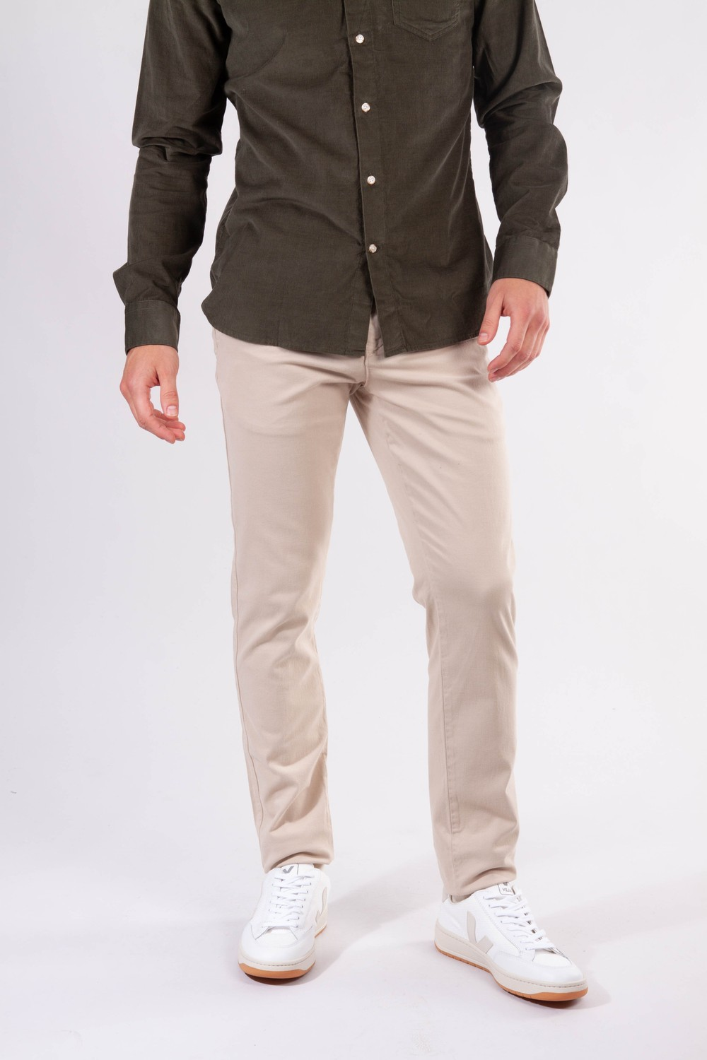 Chino slim beige en coton bio - joe - Knowledge Cotton Apparel
