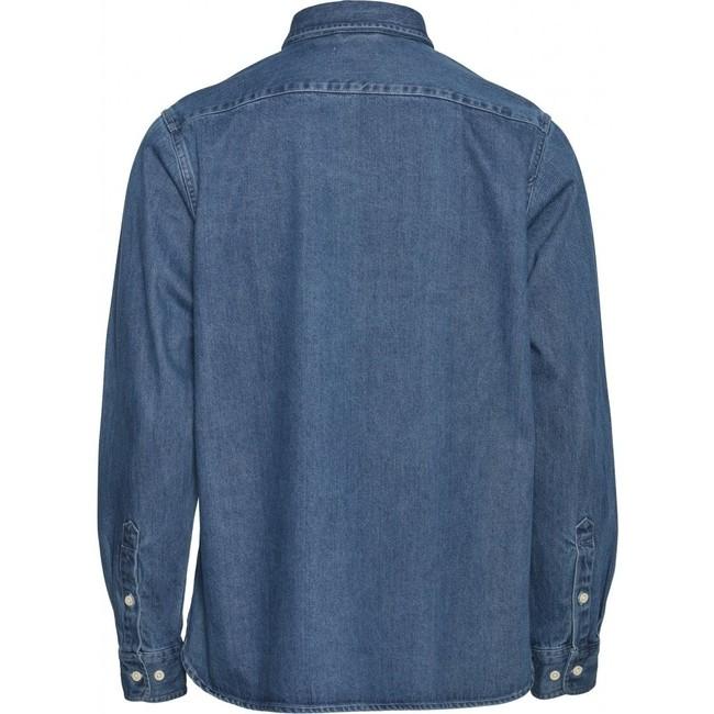 Chemise bleu jean en coton bio - larch - Knowledge Cotton Apparel num 1