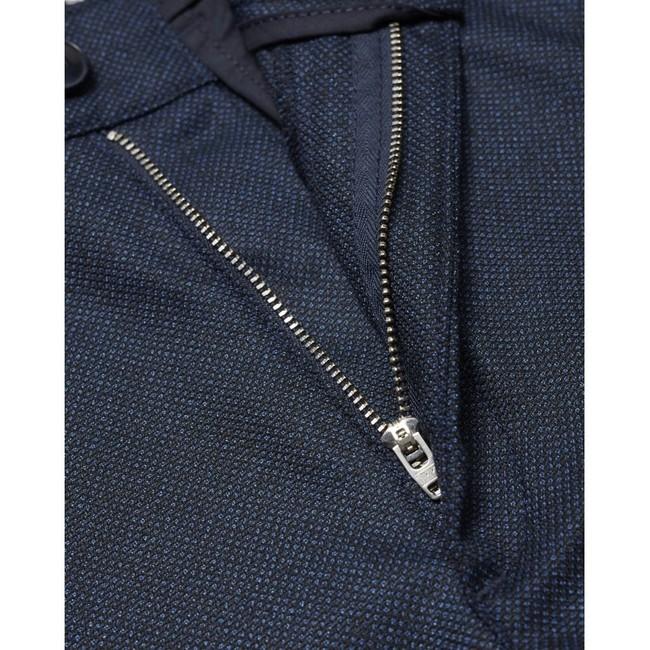 Chino slim bleu à motifs en polyester recyclé - joe - Knowledge Cotton Apparel num 3