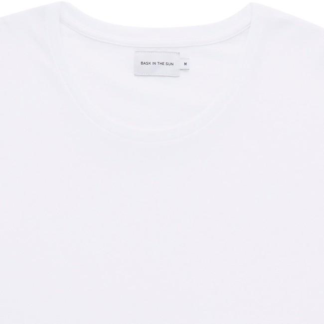 T-shirt en coton bio white teofilo - Bask in the Sun num 1