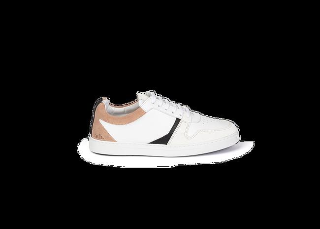 Chaussure en glencoe cuir blanc / suède nude - Oth num 3