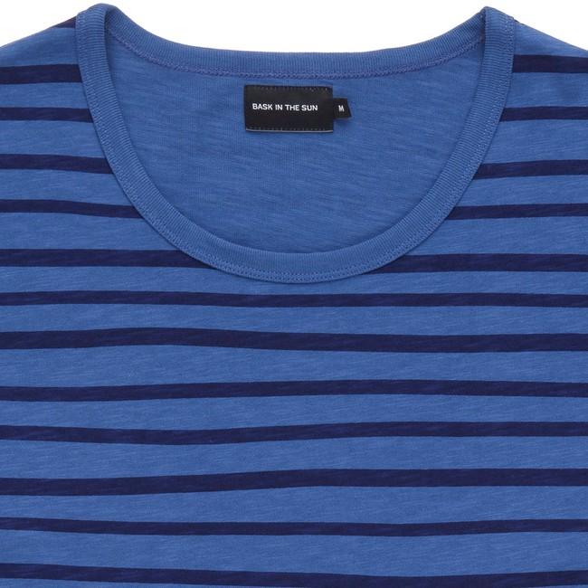 T-shirt en coton bio blue esperanza ls - Bask in the Sun num 1