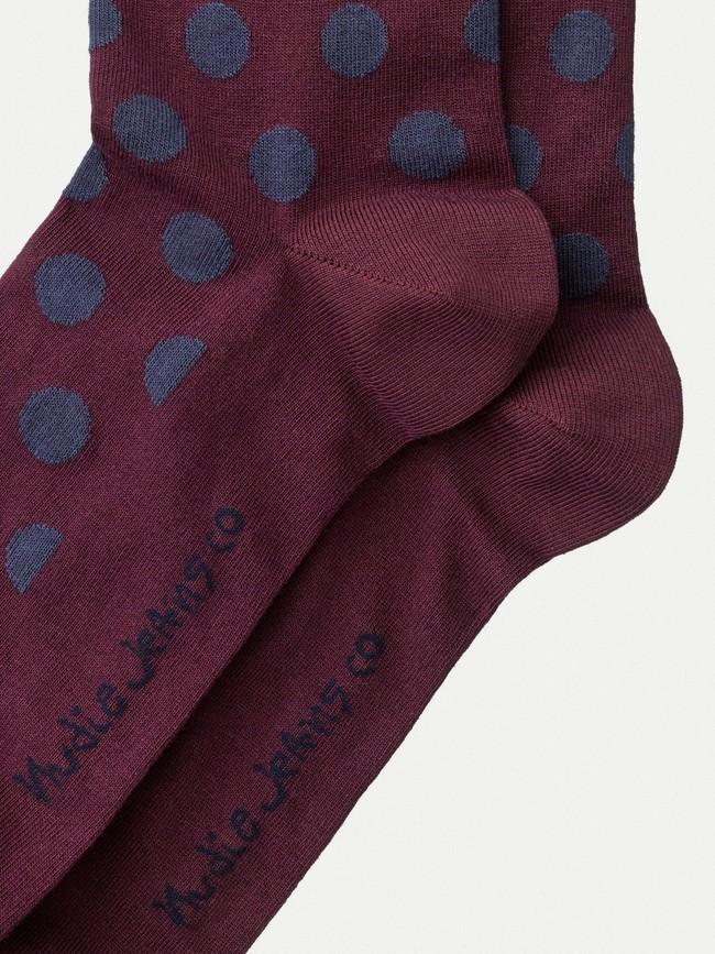 Chaussettes hautes imprimées figue - olsson dot - Nudie Jeans num 2