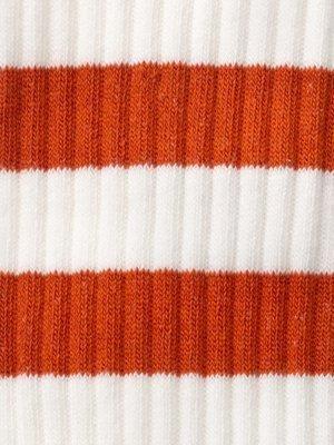 Chaussettes hautes blanc et orange en coton bio - amundsson sport - Nudie Jeans num 2