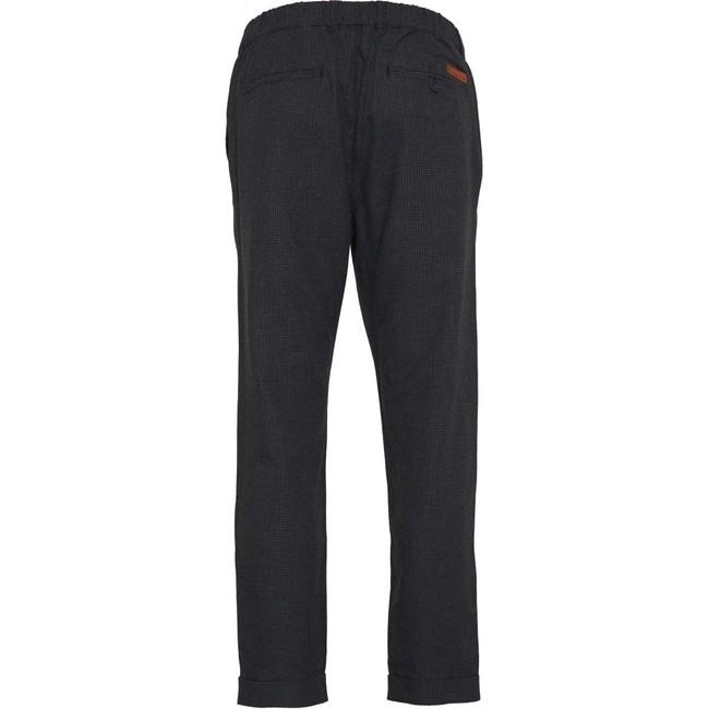Pantalon à carreaux gris en tencel et coton bio - Knowledge Cotton Apparel num 1