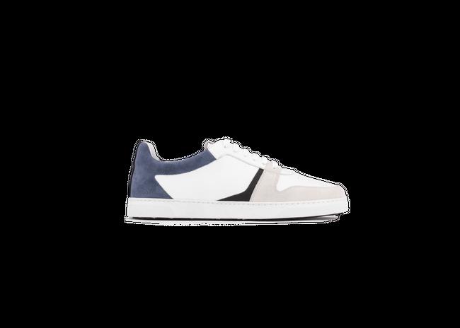 Chaussure en glencoe cuir blanc / suède bluette - Oth num 3