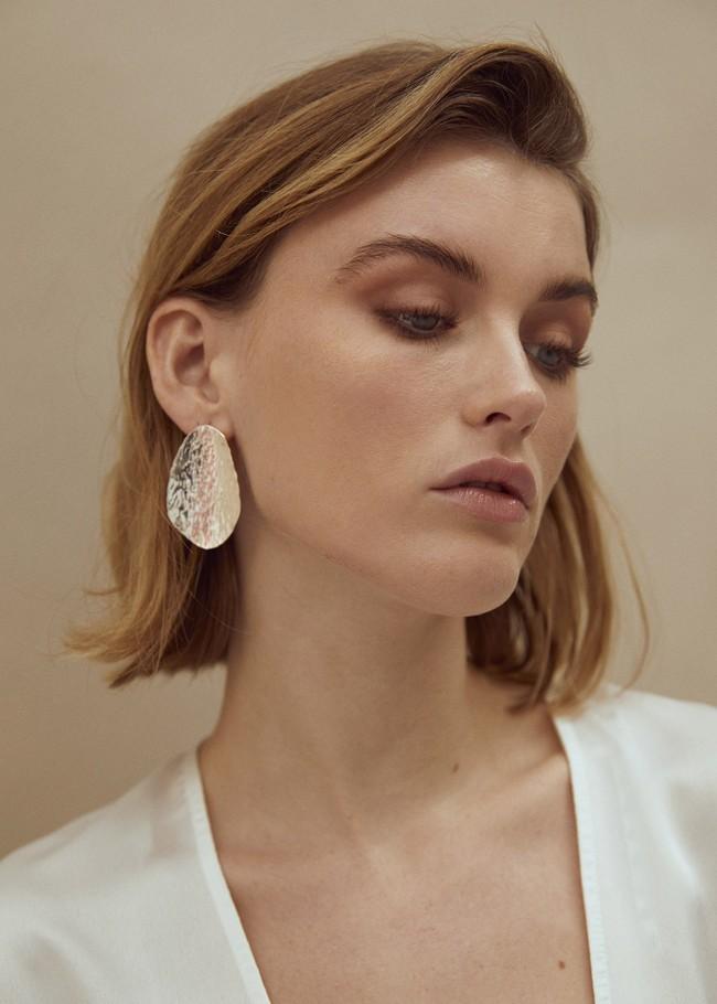 Grandes boucles d'oreilles texturées en argent recyclé - Wild fawn