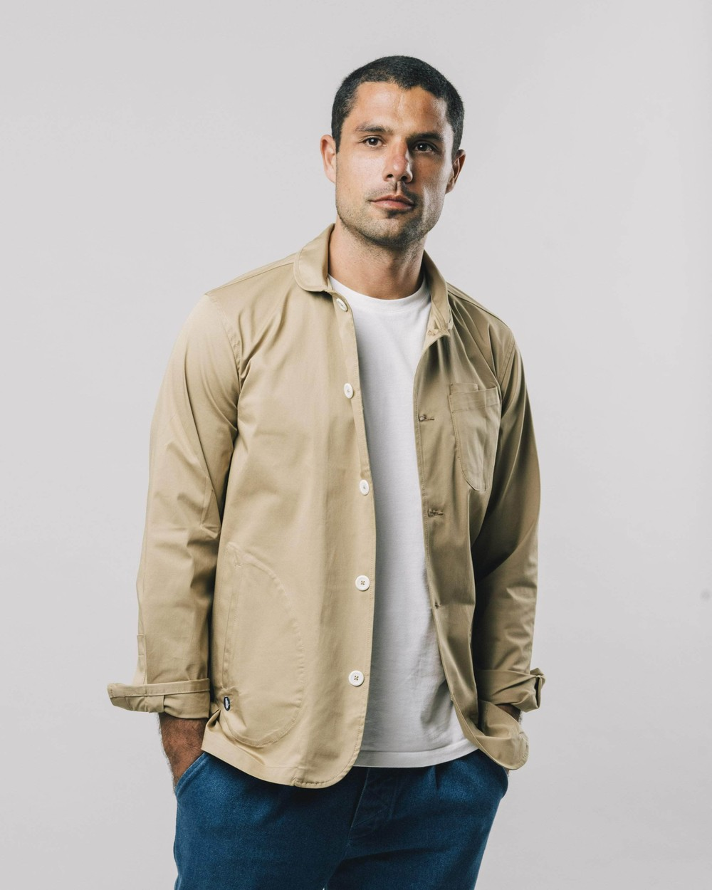 Lightweight cotton jacket beige - Brava Fabrics